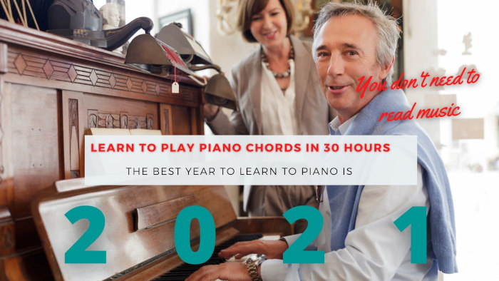 Piano chords course 2020