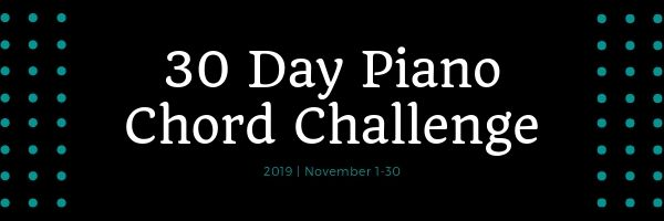 30 Day Piano Chord Challenge