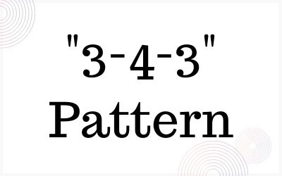 3-4-3 Pattern