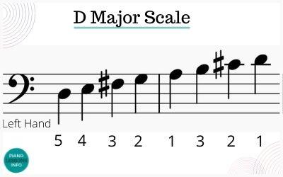 D major scale fingering for left hand