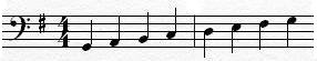 G Major Scale Bass Clef