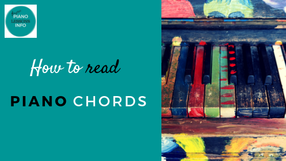 How to read piano chords.