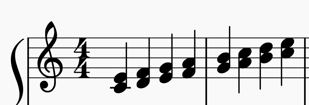 Piano Scale in Thirds
