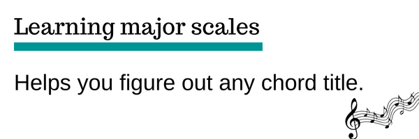 Scales help you understand chords