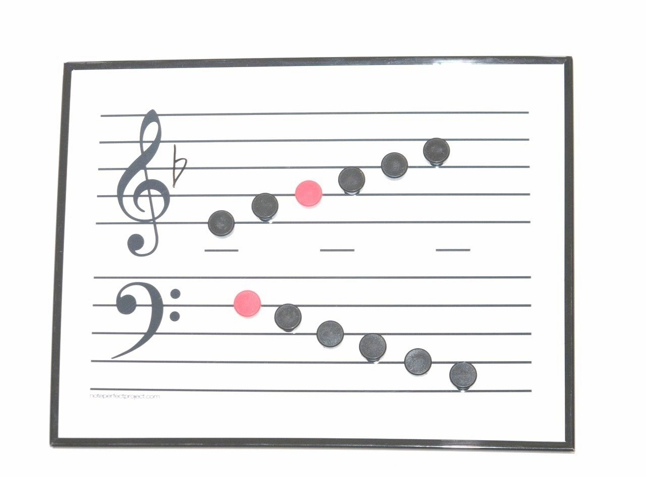 Magnetic Musical Staff Whiteboard