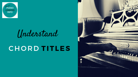 Understand Chord Titles